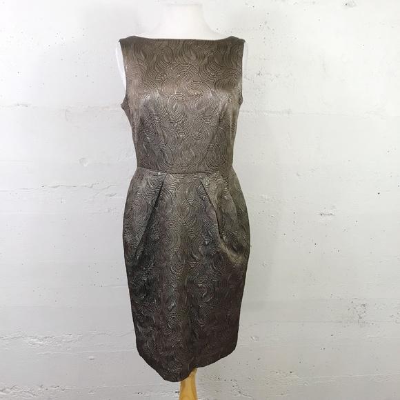 Banana Republic Dresses & Skirts - Banana Republic Metallic Textured Fitted Dress 10